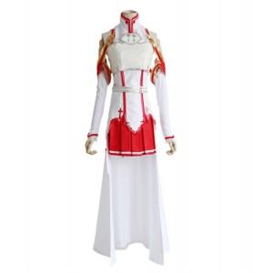 Sword Art Online:Yuuki Asuna Costume De Combat Cosplay Anime Jeu Femmes Uniformes Robe