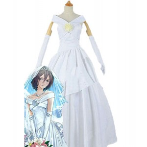 Attack On Titan : Blanc Mariage Mikasa Costume Cosplay Achat