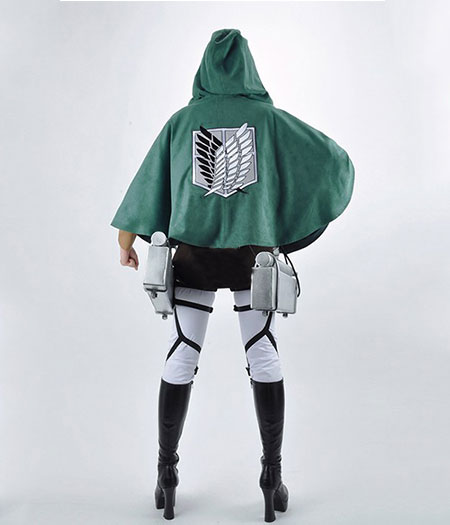 Attack On Titan : Haute Qualité Eren Jaeger Femme Jolie Costume Cosplay