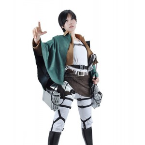 Attack On Titan : Haute Qualité Eren Jaeger Femme Jolie Costume Cosplay