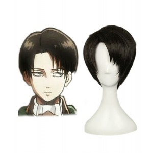 Attack on Titan : France Haute Qualité Levi Noir Wig Cosplay