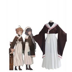 Cardcaptor Sakura : Sakura Kimono Brown Long Costumes Cosplay Acheter