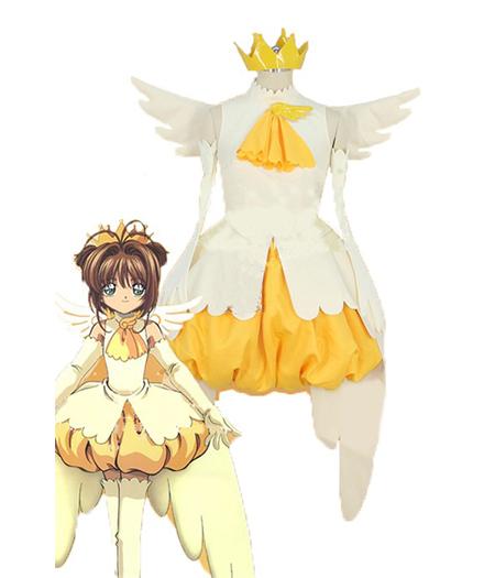 Cardcaptor Sakura : Full Set Jaune Robe Sakura Kinomoto Costume Cosplay Acheter