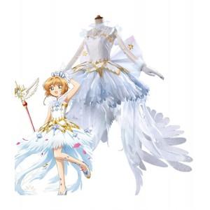 Cardcaptor Sakura : Ange De Glace Blanc Robe Sakura Kinomoto Costumes Cosplay