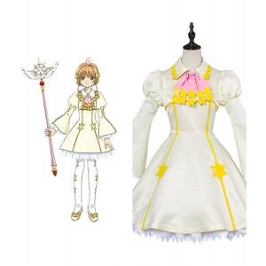 Cardcaptor Sakura : France Jaune Clair Kinomoto Sakura Costume Cosplay