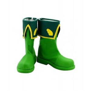 Cardcaptor Sakura : Haute Qualité LI SYAORAN Vert Boots Cosplay