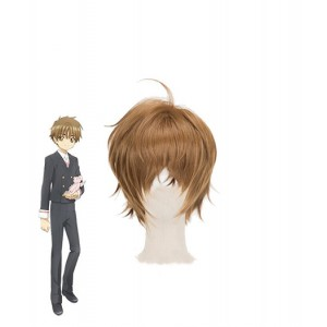 Cardcaptor Sakura : Brown Court Wig Shaoran Li Cosplay Acheter