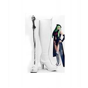 Code Geass : Blanc Long C.C Chaussures Cosplay Acheter