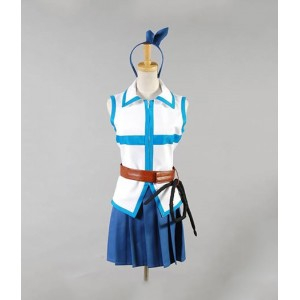 Fairy Tail : Lucy Heartfilia Femme Cyan Costume Cosplay Achat