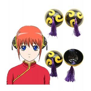 Gintama : Forme Ronde Bande Cheveux Accessoires Kagura Cosplay