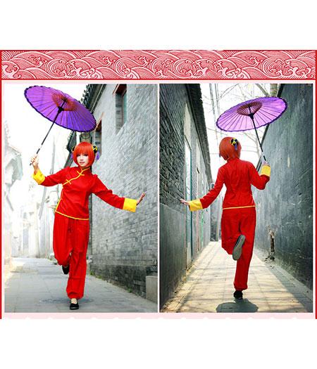 Gintama : Ensemble Complet Cheongsam Kagura Costume Cosplay