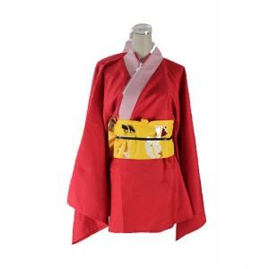 Gintama : Kagura Rouge Ensemble Complet Kimono Cosplay
