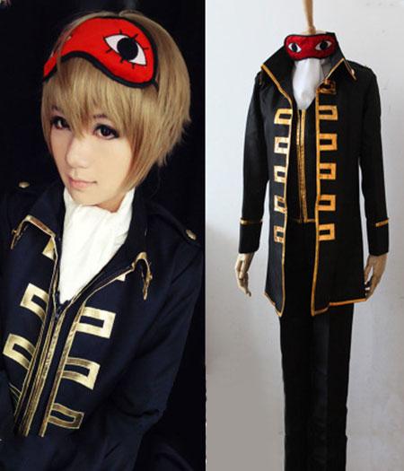Gintama : Okita Sougo Noir Costume Cosplay Acheter