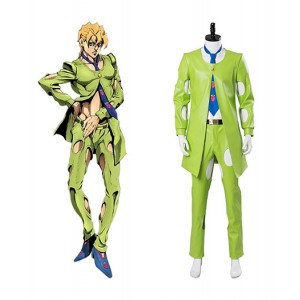 JoJo's Bizzare Adventure : Fugo Pannacotta Vert Costume Cosplay Acheter