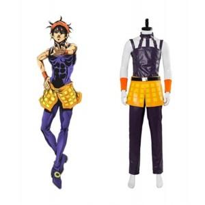 JoJo's Bizzare Adventure : Golden Wind Ghirga Narancia Costume Cosplay Vente Chaude