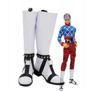 JoJo's Bizzare Adventure : Guido Mista Blanc Long Boots Cosplay Acheter