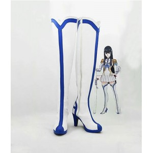 KILL la KILL : Blanc Long Boots Satsuki Kiryuin Cosplay Achat