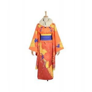 LoveLive! : Fleur Texture Kimono Honoka Kousaka Cosplay Costume