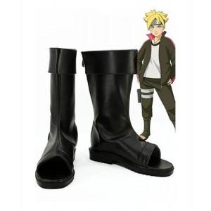 Naruto : Haute Qualité Boruto Noir Long Boots Cosplay