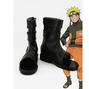 Naruto : Shippuden Uzumaki Naruto Ninja Long Noir Bottes Cosplay