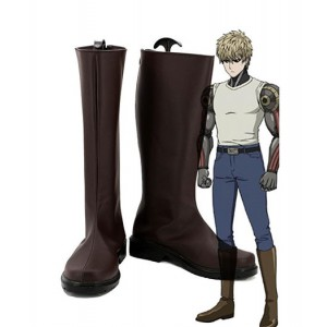 One Punch Man : Demon Cyborg Genos Brown Boots Cosplay Acheter
