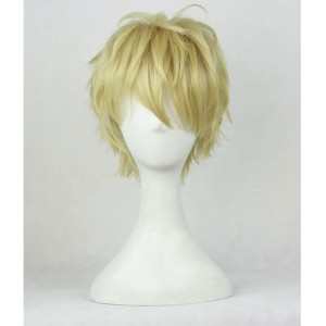 One Punch Man : France Demon Cyborg Genos Jaune Wig Cosplay Acheter Pas Cher