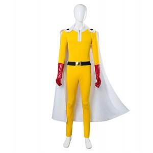 One Punch Man : Saitama Combinaison Jaune Collants Costume Cosplay