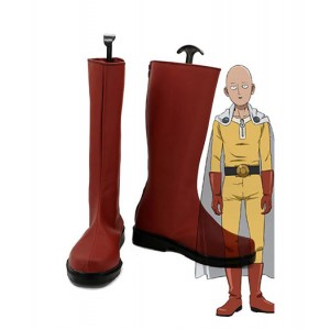 One Punch Man : Saitama Haute Qualité Rouge Boots Cosplay