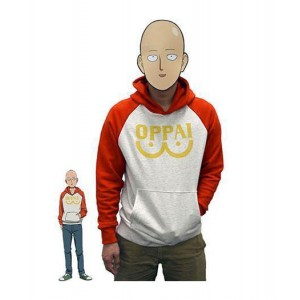 One Punch Man : Saitama Oppai Logo Pull Costume Cosplay