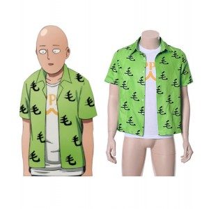 One Punch Man : France Saitama Chemise Oppai Tee-Shirt Costume Cosplay