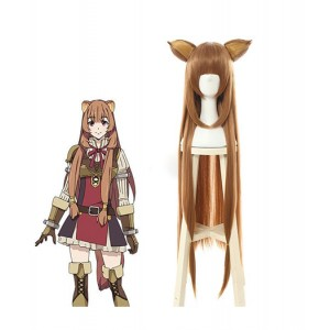 The Rising of the Shield Hero : Raphtalia Brown Long Wig Cosplay