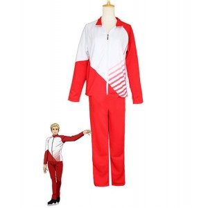 Yuri On Ice : Rouge Femme Christophe Giacometti Costume Cosplay Achat