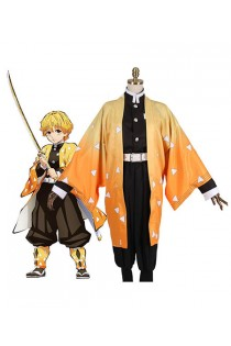 Demon Slayer : Kimetsu no Yaiba Agatsuma Zenitsu Costume Kit Cosplay