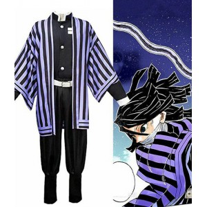 Demon Slayer : Kimetsu no Yaiba Obanai Iguro Costume Kit Cosplay
