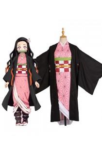 Demon Slayer : Kimetsu no Yaiba Kit Kimono Costume Cosplay Kamado Nezuko