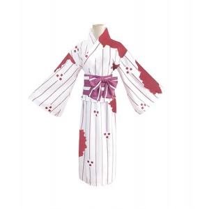 Demon Slayer: Kimetsu no Yaiba Anime Cosplay Costume Kamado Nezuko White Kimono
