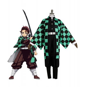 Demon Slayer : Kimetsu no Yaiba Costume Kamado Tanjirou Cosplay