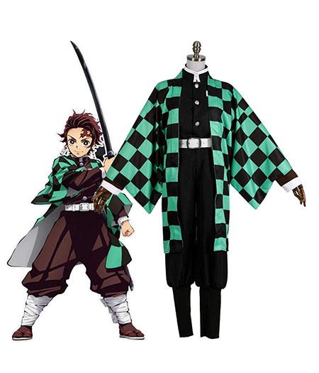 Demon Slayer : Kimetsu no Yaiba Costume Kamado Tanjirou Cosplay