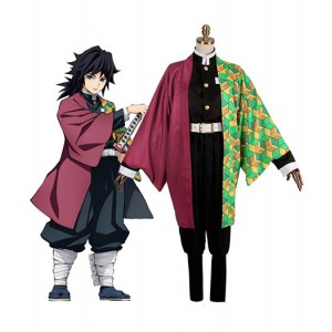 Demon Slayer : Kimetsu no Yaiba Ensemble Complet Tomioka Giyu Costume Cosplay