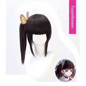 Demon Slayer : Kimetsu no Yaiba Black Wig Tsuyuri Kanawo Cosplay