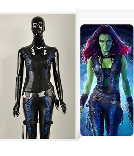 Guardians Of The Galaxy : Haute Qualité Gamora Costume Cosplay Acheter