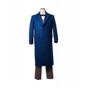 Harry Potter : Fantastiques Animaux Bleu Eddie Newt Scamander Manteau Costume Cosplay