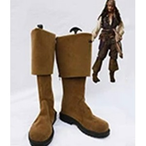 Pirates of the Caribbean : Brown Long Jack Sparrow Boots Cosplay Acheter