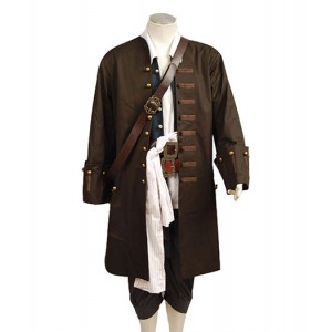 Pirates of the Caribbean : Jack Sparrow Brown Uniforme Costume Cosplay Achat