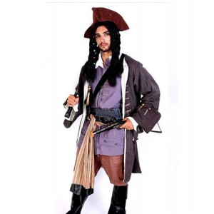 Pirates of the Caribbean : Regardez Bien Cuir Costume Cosplay Vente Chaude