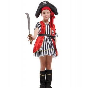 Pirates of the Caribbean : Rouge Enfants Costume Cosplay Vente Pas Cher