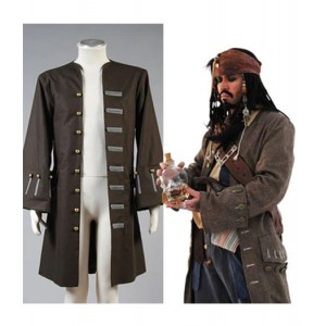 Pirates of the Caribbean : Jack Sparrow Masculin Veste Costume Cosplay