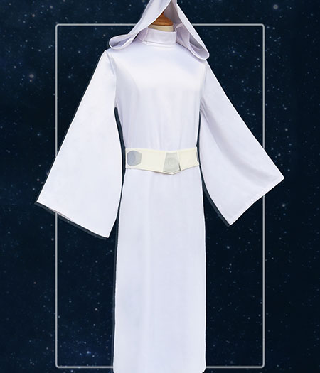 Star Wars : Blanc Robe Leia Organa Solo Cosplay Costume Acheter Pas Cher