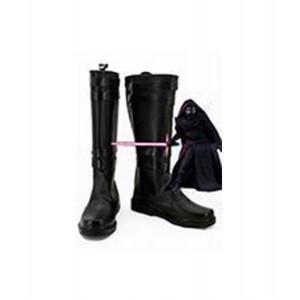 Star Wars VII : Kylo Ren Noir Long Boots Cosplay Vente Pas Cher