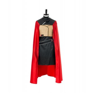 Star Wars : France Qi'ra Cosplay Rouge Cape Costume Vente Pas Cher